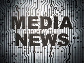 News concept: circuit board with Media News — Stock Photo