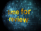 Time concept: Time for Review on digital background — Stock Photo