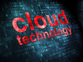 Cloud networking concept: Cloud Technology on digital background — 图库照片