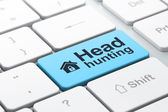 Business business concept: Home and Head Hunting on computer keyboard background — Foto de Stock