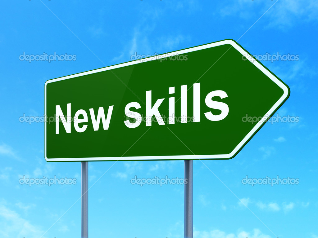 Education Concept New Skills On Road Sign Background. Eqaul Signs Of Stroke. Grad Party Signs Of Stroke. Water Restriction Signs Of Stroke. Invisible Signs. Bath House Signs. Boys Basketball Signs. Director Cut Signs Of Stroke. Overhydration Signs Of Stroke