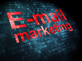 Advertising concept: E-mail Marketing on digital background — Stockfoto