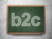 Finance concept: B2c on chalkboard background — Stock Photo