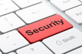 Safety concept: Security on computer keyboard background — Stock Photo