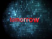 Timeline concept: Tomorrow on digital background — Stock Photo