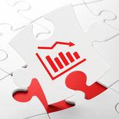 Advertising concept: Decline Graph on puzzle background — Foto de Stock