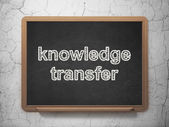 Education concept: Knowledge Transfer on chalkboard background — Stock Photo