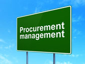 Finance concept: Procurement Management on road sign background — Stock Photo