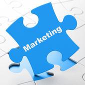 Marketing concept: Marketing on puzzle background — Stock Photo