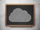 Cloud technology concept: Cloud on chalkboard background — Стоковое фото