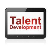 Education concept: Talent Development on tablet pc computer — Stock fotografie