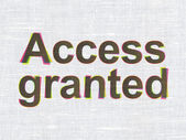 Protection concept: Access Granted on fabric texture background — Stock Photo