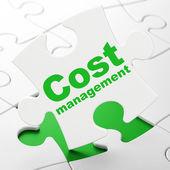 Finance concept: Cost Management on puzzle background — Foto de Stock