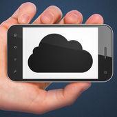 Cloud technology concept: Cloud on smartphone — Foto de Stock