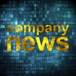 News concept: Company News on digital background — Stock Photo
