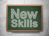 Education concept: New Skills on chalkboard background — ストック写真
