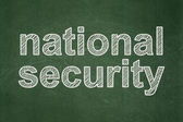 Privacy concept: National Security on chalkboard background — Stockfoto