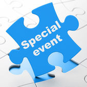 Business concept: Special Event on puzzle background — Stock Photo