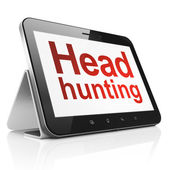 Finance concept: Head Hunting on tablet pc computer — Stock Photo