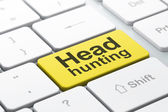 Business concept: Head Hunting on computer keyboard background — Stock Photo