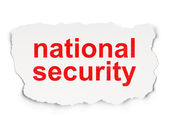 Safety concept: National Security on Paper background — Stock Photo