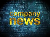 News concept: Company News on digital background — Stock Photo