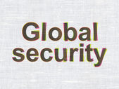 Security concept: Global Security on fabric texture background — Stock Photo