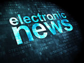 News concept: Electronic News on digital background — Stock Photo
