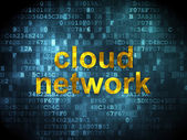 Cloud networking concept: Cloud Network on digital background — ストック写真