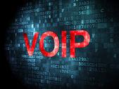 SEO web design concept: VOIP on digital background — Stock fotografie