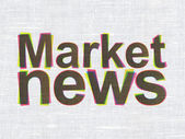 News concept: Market News on fabric texture background — Stock Photo