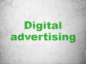 Marketing concept: Digital Advertising on wall background — Stock Photo