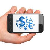Finance concept: Finance Symbol on smartphone — Stock Photo
