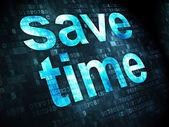Timeline concept: Save Time on digital background — Stock fotografie