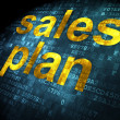 Advertising concept: Sales Plan on digital background — Stock Photo