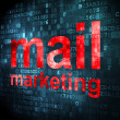 Advertising concept: Mail Marketing on digital background — Stock Photo