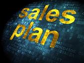 Conceito de publicidade: plano de vendas sobre fundo digital — Fotografia Stock