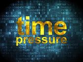 Timeline concept: Time Pressure on digital background — Stock fotografie