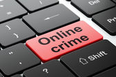 Protection concept: Online Crime on computer keyboard background — Stock Photo