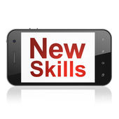 Education concept: New Skills on smartphone — Stockfoto