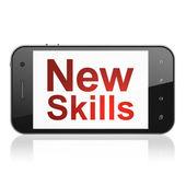 Education concept: New Skills on smartphone — Стоковое фото