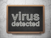 Protection concept: Virus Detected on chalkboard background — Stockfoto