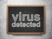 Protection concept: Virus Detected on chalkboard background — Stock fotografie