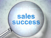 Advertising concept: Sales Success with optical glass — Stock Photo