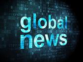 News concept: Global News on digital background — Stock Photo