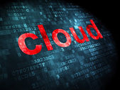 Cloud networking concept: Cloud on digital background — Stock Photo