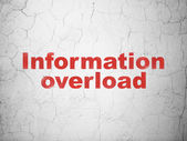 Data concept: Information Overload on wall background — Stock Photo