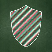 Privacy concept: Shield on chalkboard background — Stock Photo