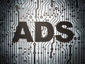 Marketing concept: circuit board with Ads — Stock Photo