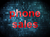 Marketing concept: Phone Sales on digital background — Stock Photo